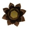 Kép 2/2 - Lótusz mécsestartó - Capiz kagylóhéjból - fekete