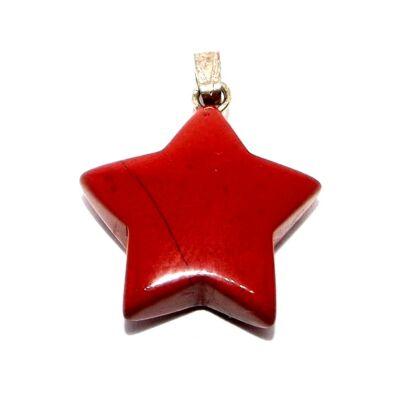 Vörös Jáspis csillag medál