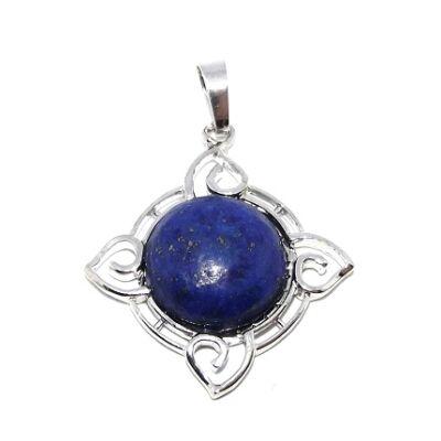 4 elem foglalatos Lapis Lazuli medál