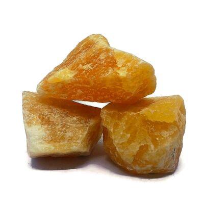 Narancs kalcedon nyers - nagy
