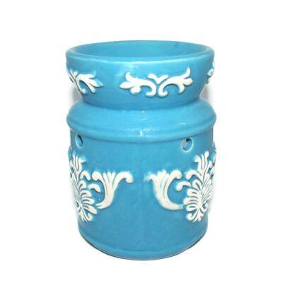 Barokk motívumos párologtató edény – kék