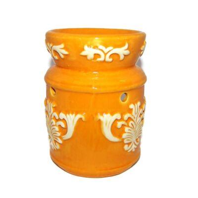 Barokk motívumos párologtató edény – narancssárga