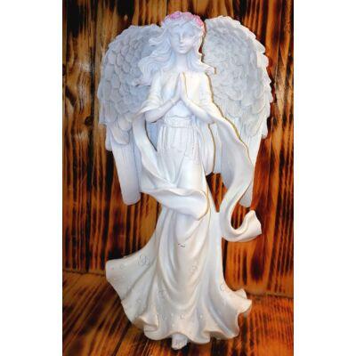 Angyalszobor rozsakoszorúval - Remény angyala - nagy