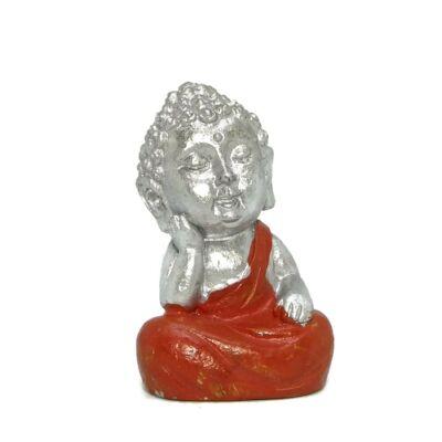 Ezüst Buddha pici - narancssárga