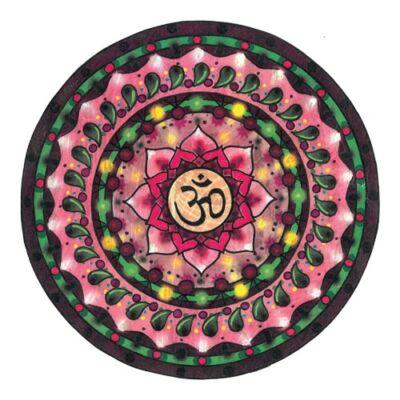 Mágnes/poháralátét Mandala - Om