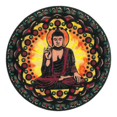 Mágnes/poháralátét Mandala - Buddha
