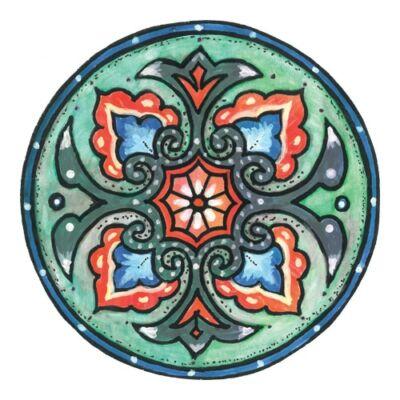 Mágnes/poháralátét Mandala - Egészségmegőrző