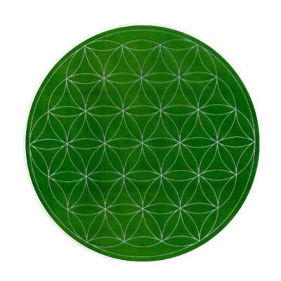 Mandala matrica - Élet virága zöld