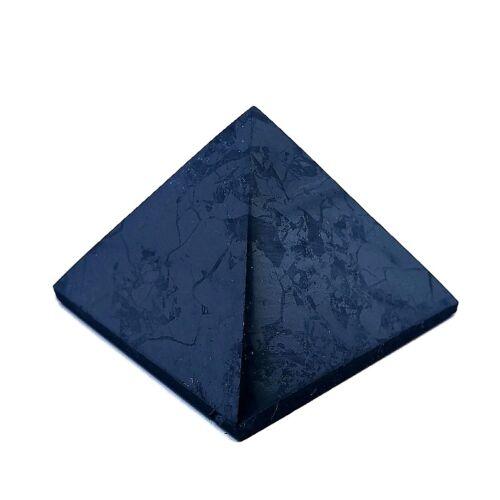Shungit piramis - 4 cm