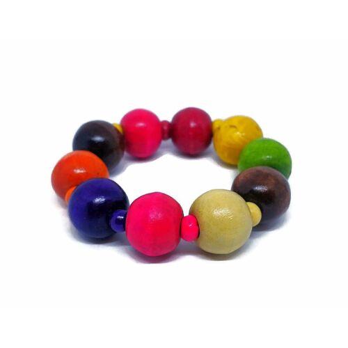 Indiai karkötő - gyöngy, színes