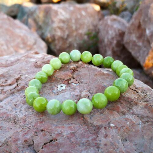 Világoszöld szerpentin - Végtelen kő 8 mm