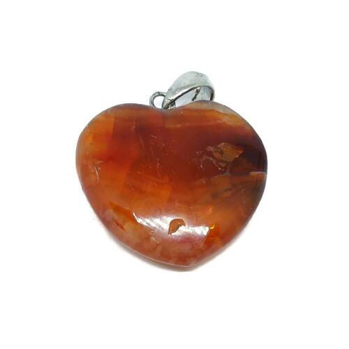 Karneol szív medál (nagy)