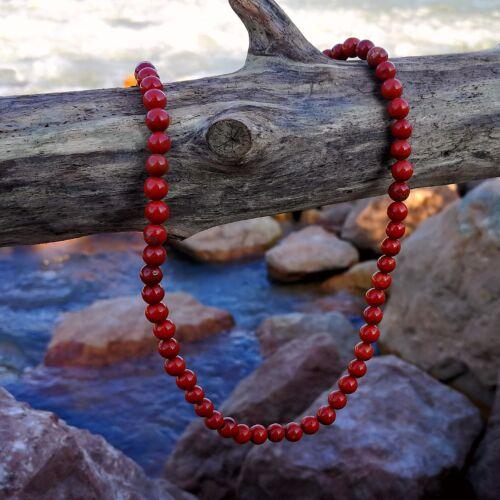 Vörös jáspis gyöngysor 6 mm