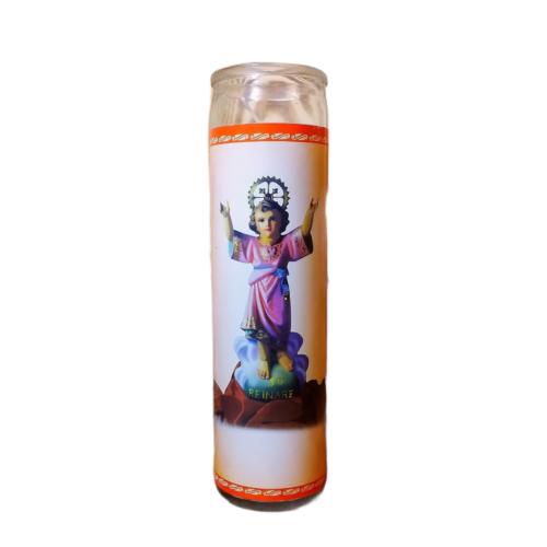 Jézus motívumos gyertya üvegben