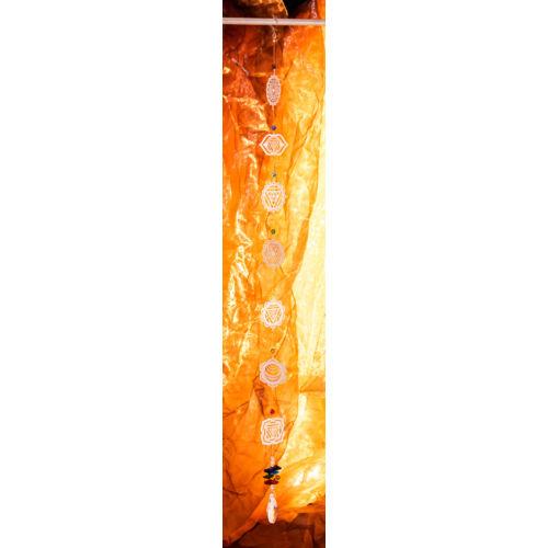 Csakra szimbólumos kristályfüggő - nagy