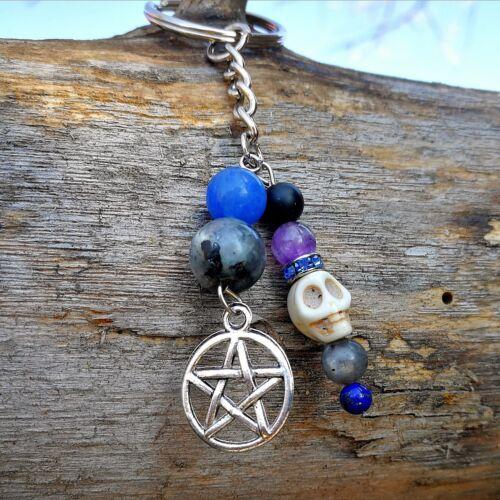 Wicca védelem kulcstartó