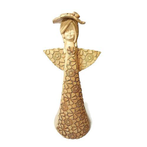 Ihlet angyala - Kézműves kerámia szobor