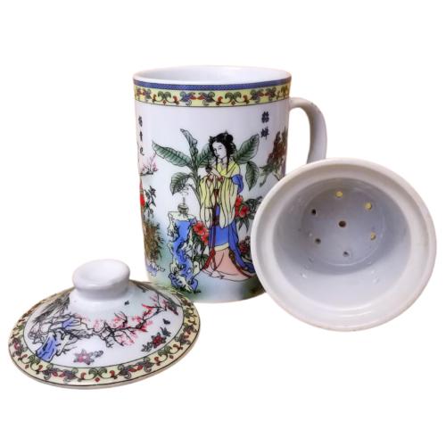 Kínai teaszűrős bögre - Tavasz