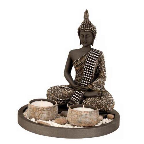 Buddha - Amitabha - dupla mécsestartó oltár