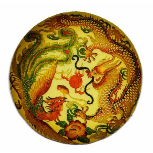 Mágnes/poháralátét mandala - Sárkány és főnix
