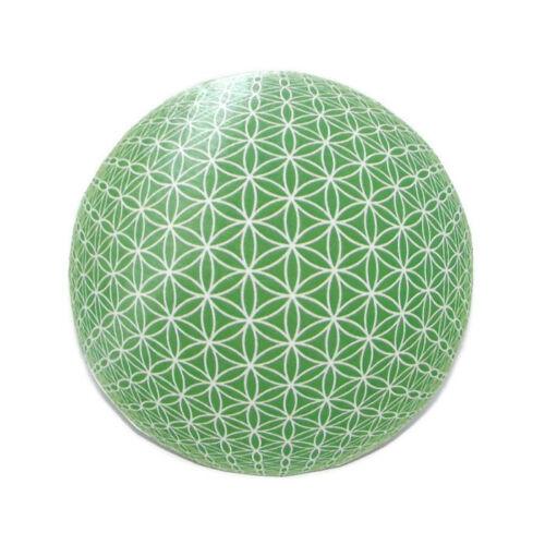 Mágnes/poháralátét Mandala - Élet virága, zöld