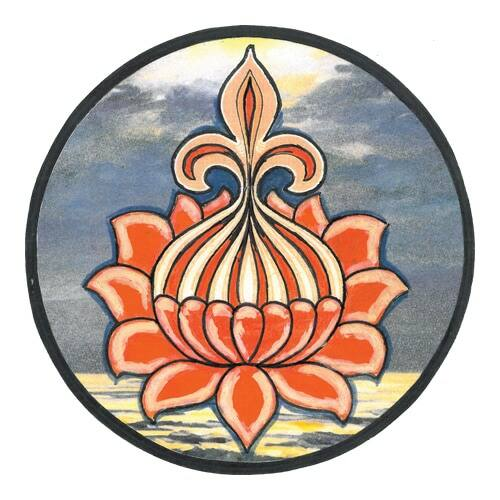 Mágnes/poháralátét Mandala - Lótusz