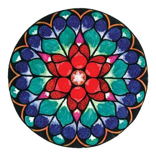 Mandala matrica - Szívcsakra