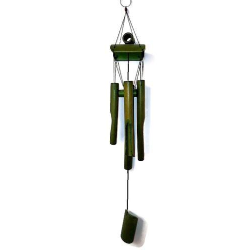 Bambusz szélcsengő - zöld