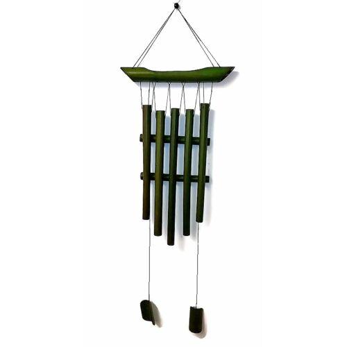 Bambusz szélcsengő - zöld - Pagoda