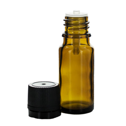 Cseppentős üvegcse - 10 ml - barna