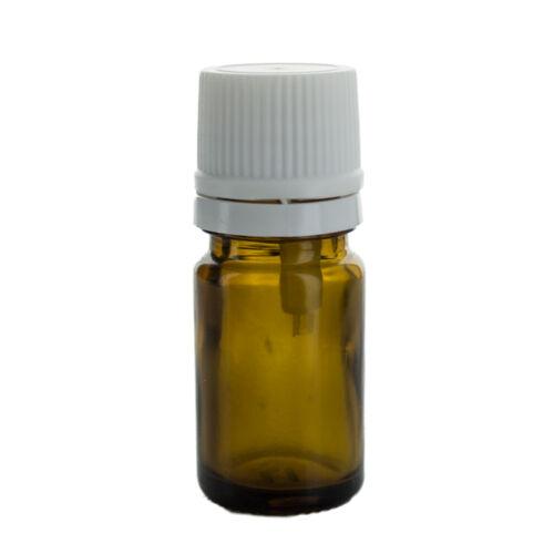 Cseppentős üvegcse - 5 ml - barna
